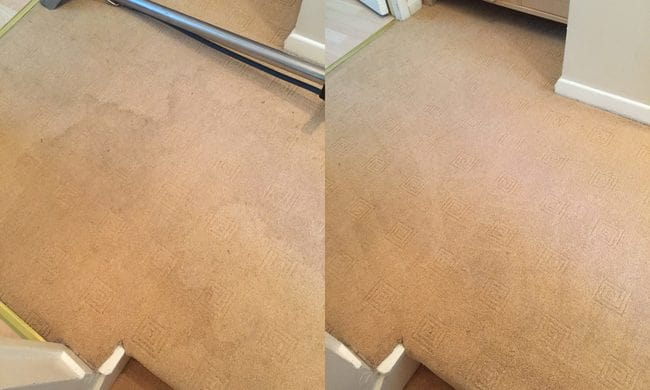 before and after carpet cleaning 4