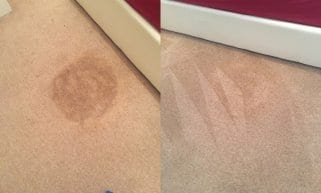 before and after stain carpet cleaning
