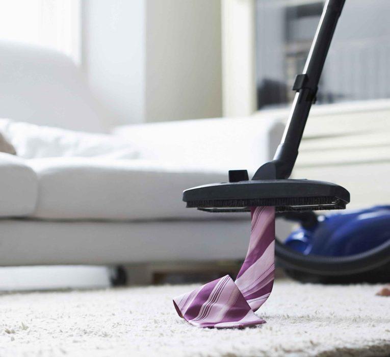 Vacuum a carpet