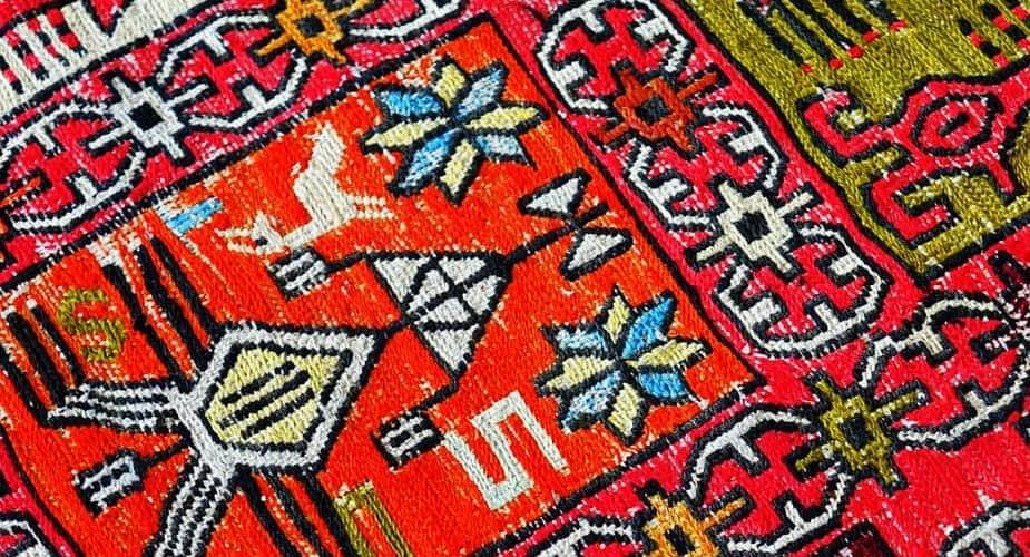 Carpet damaged by carpet moths
